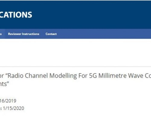 """Call for theSpecialIssue """"Radio Channel Modelling For 5G Millimetre Wave Communications In Built Environments"""""""